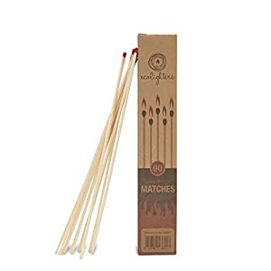 100 Firelighters Matches - Box Of 100 Firestarters With Free Long Matches - Fire Starter For Wood Burners Bbq Fire Pit Fireplaces By Ecolighters by Galleon Fireplaces