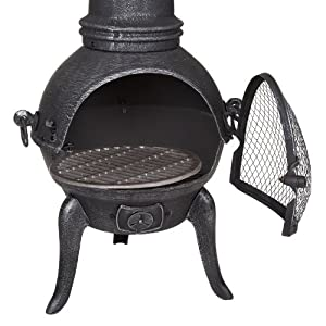 109cm Medium Cast Iron Chiminea by Fire Mountain