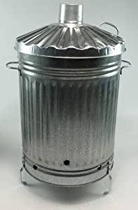 110l Galvanised Steel Incinerator Bin Garden Burn Rubbish Paper Wood Sturdy from Anything4Home