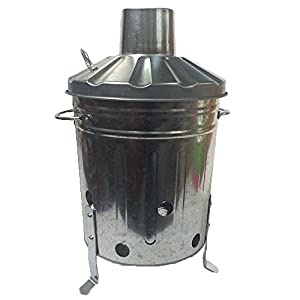 15 Litre 15l Small Mini Galvanised Metal Incinerator Recycle Garden Rubbish Fire Burning Binwith by UK