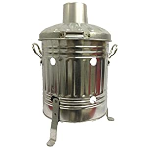 15 Litre Incinerator Fire Pit Burn Paper Leaves Wood Rubbish Small Durable Handy Galvanised Steel 1