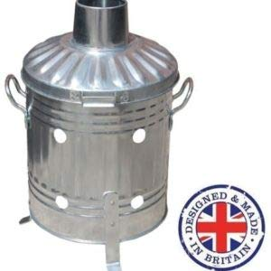 15l Mini Garden Incinerator Small Fire Bin Galvanised 15 Litre Burning Wood from Keto