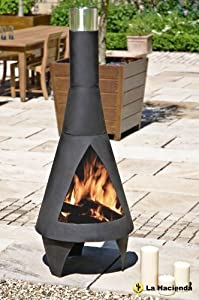 160cm Extra Large Black Colorado Chiminea Chimenea Patio Heater