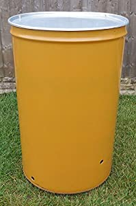 210 Litre Large Garden Incineratorburnerbonfire Bin For Wasterubbishleaves - With Lid