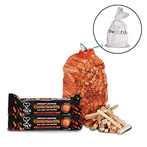 3kg Quality Wooden Firestarter Kindling Large Instant Light The Wrapper Crackle Log X2 - Comes With The Log Hut White Woven Sack from TheChemicalHut