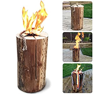 50cm Kiln Dried Swedish Candle Fire Pit Log - Easy Light - Summer Party Flame Logs - Comes With Thechemicalhut Anti-bac Pen by The Chemical Hut