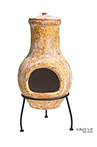 65cm Clay Chimenea by gf4u