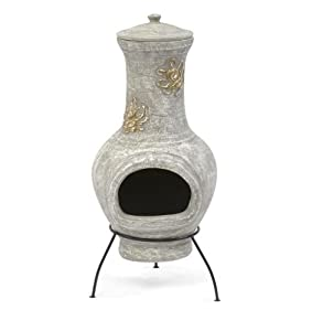 75cm Clay Terracotta Chiminea from Trans Continental Group Ltd