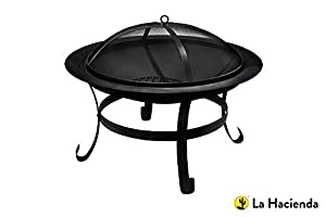 75cm Dia Steel Firebowl With Mesh Safety Lid