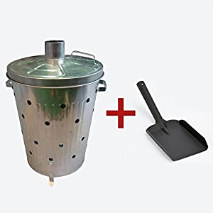75l Galvanised Incinerator Fire Shovel By Arboria from Arboria