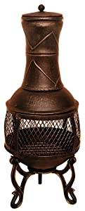 85cm Chimnea Chiminea Chiminea Patio Heater Bronze from Blackspur