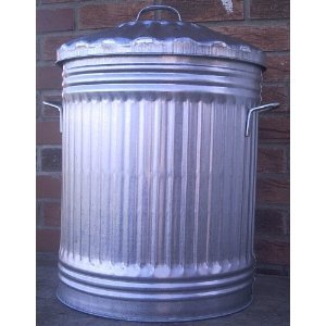90 Litre Galvanized Dustbin With Lid
