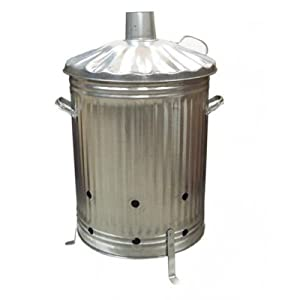 90 Litre Garden Incinerator Fire Bin Burner For Rubbish Leaves Paper Made In Uk by OnlineDiscountStore