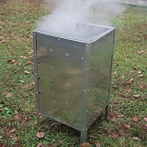 90 Ltr Large Square Fire Bin Incinerator Galvanized Garden Burning Rubbish Trash from Crystals