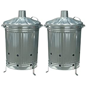 90l Galvanised Metal Incinerator X 2 from Anything 4 Home