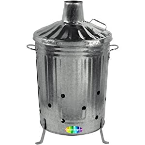 90l Galvanised Metal Incinerator by Anything 4 Home