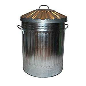 90l Incinerator 90l Metal Bin - Ideal For Throwing And Burning Rubbish Easy To Store Made From English Metal Can Be Used At Home Work Or Elsewhere by CrazyGadget®