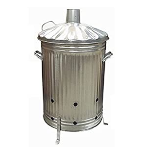 90l Metal Garden Incinerator - Leaves Rubbish Paper Wood Burner by Fastcar
