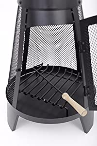 A2z Home Solutions Outdoor Chimenea Outdoor Garden Patio Heater Chimnea Wood Burner Steel Chiminea Modern 120cm from A2Z HOME SOLUTIONS