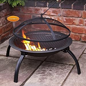 Accessible Lucio Portable Fire Bowl Bbq Grill Including Carry Bag