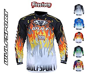 Adult Motocross Shirt 2018 Top Wulfsport Firestorm Motorbike Motorcycle Enduro Quad Pit Bike Dirt Bike Atv Racing Off Road Mx Jersey All Colors - Blackblue - L by Wulfsport