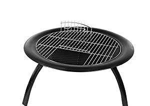 Amazonbasics Portable Folding Fire Pit With Carrying Bag And Cooking Grate 66 Cm 26 Inches by AmazonBasics