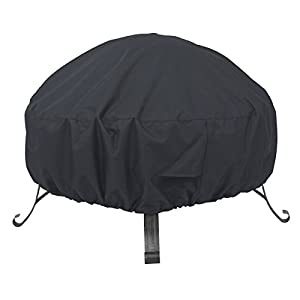 Amazonbasics Round Patio Fire Pit Cover - 152 M Black by AmazonBasics
