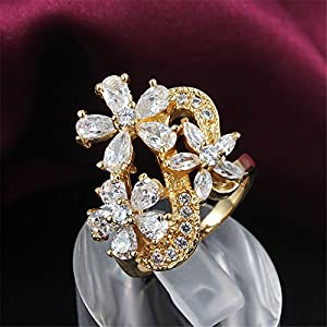 Amberma Special Stylish 18ct Ringswomens Jewellery Gifts For Women Girls Friends from AmberMa