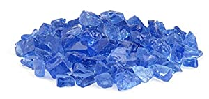American Fireglass 9 To 12mm Fire Pit And Outdoor Fireplace Glass Small 10-pound Light Blue from American Fireglass, Inc