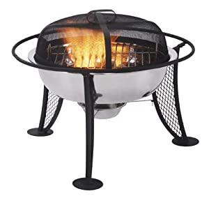 Antony Worrall Thompson Contemporary Outdoor Firepit by Portable Fridge