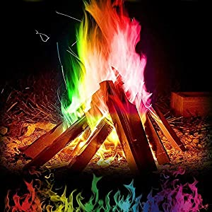 Aolvo Fire Color Changing Packets 10503 Packs Fireplace Colorant Vibrant Long-lasting Pulsating Wood Burning Fire Flame Colorant Brilliant Color Campfire Color Flames Powder Indoor And Outdoor by Aolvo