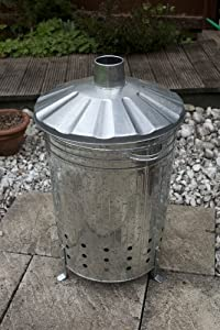 Apollo Gardening 90l Galvanised Metal Incinerator by Apollo Gardening Ltd