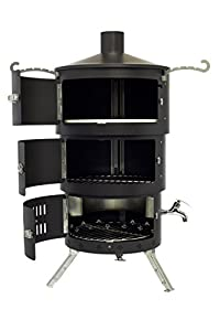 Aquaforno Af2 Black Portable Telescopic Pizza Oven Water Boiler Bbq Smoker Fire Pit Chiminea by Aquaforno Ltd