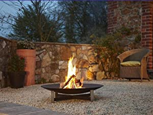 Arte Puro Fire Pit 80cm Stainless Steel Anthracite by Arte Puro