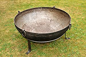 Authentic Iron Kadai Fire Pit With Stand 95-110kg by Black Country Metal Works