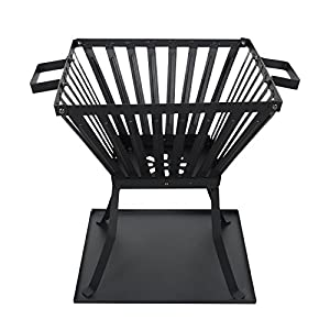 Azuma Brando Outdoor Wood Burner Black Garden Log Fire Pit Patio Heater Brazier Basket Party Camping from XS-Stock.com Ltd