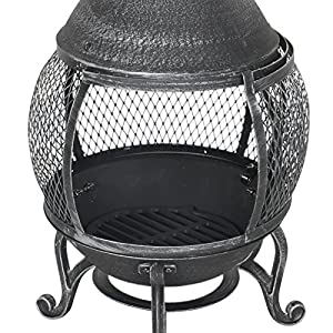 Azuma Ember Cast Iron Chiminea Fire Pit Black Patio Burner Garden Heater Charcoal Outdoor Steel Chimney from XS-Stcok.com Ltd