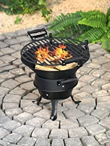 Bbq Barbeque Premier Norfolk Bbq Cast Iron Firepit Chiminea Patio Heater