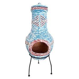 Bentley Garden Large Aztec Clay Chimenea Chiminea Outdoor Patio Heater Burner by Charles Bentley