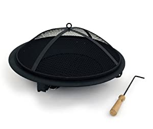 Bentley Round Outdoor Foldable Porcelain Charcoal Fire Pit Black from Bentley
