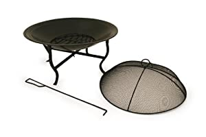 Bentley Round Outdoor Garden Patio Fire Pit Bowl Black by Bentley