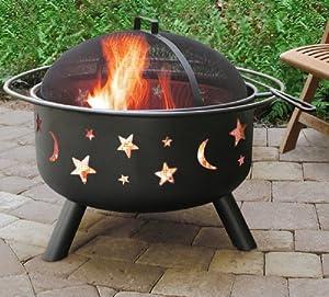 Big Sky Fire Pit Starsmoonblk from Landmann