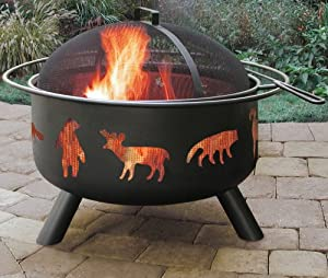 Big Sky Fire Pit Wildlifeblack by Landmann