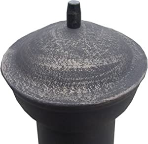 Black 85cm Cast Ironsteel Chimnea Patio Heatercooking Bbq Grill Fire Chiminea