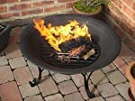 Black Outdoor Fire Pit With Classic...