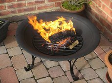 Black Outdoor Fire Pit With Classic Stand from GGL