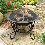 Black Steel Firebowl With...