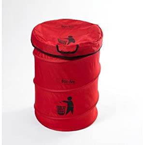 Bon Fire Folding Dustbin With A Pole Including Transport Bag by Laminvale Ltd