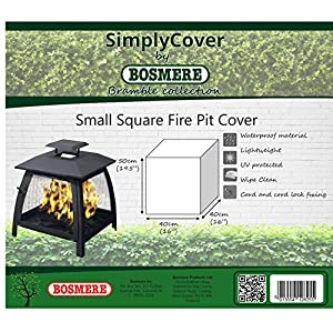 Bosmere L570 Simply Cover Bramble Green Small Square Fire Pit Cover from BOSMERE PRODUCTS LIMITED