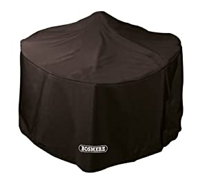 Bosmere Large Storm Round Fire Pit Cover - Black by Bosmere Products Ltd